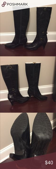 Tall black boots Classic style! bandalino Shoes Heeled Boots