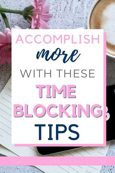 How to be highly productive every single day by using time blocking. Get more done and be super productive when you use these time blocking tips. Master your time management when you know how to schedule your time properly. Time Management Printable, Time Management Skills, Money Management, Flow State, Productive Things To Do, Keeping A Journal, Productivity Hacks, How To Stop Procrastinating, Motivation