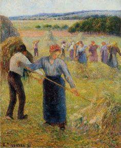 Haymaking at Eragny - Camille Pissarro