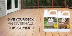 Resist Mist composite deck cleaner is the best product for removing algae, mold, mildew and many other stains from composite decks. We suggest wood deck owners to use our composite deck cleaner once a year to keep their wooden decks clean and beautiful.  Visit our site and buy one today!