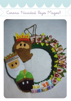 Corona Reyes MAgos Christmas Decorations, Christmas Ornaments, Holiday Decor, Holiday Classrooms, World Thinking Day, Three Wise Men, Winter Crafts For Kids, Holy Night, Art Activities