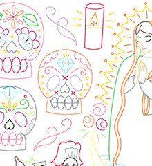 DIA DE LOS MUERTOS - Embroidery Patterns