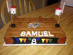 OKC basketball court cake