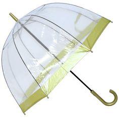 47e021f469702 Fulton Birdcage Gold Trim - see through PVC dome umbrella £16.00 Birdcage  Umbrella, Dome