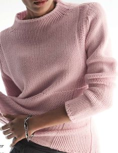 Black Friday High Neckline Solid Casual Loose Shift Sweaters - Fashion Trends of Winter Womens trendy sweaters 2020 Knitting Designs, Knitting Patterns Free, Cozy Sweaters, Sweaters For Women, Knitting Sweaters, Arm Knitting, Knitting Videos, Knit Fashion, Women's Fashion