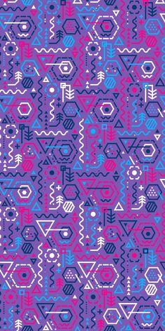Russfussuk 'LogaRhythm' Pattern (D16) #pattern #patterndesign #surfacepattern #fabricdesign #textiledesign #patternprint #geometric #hexagon #generative #memphis #padrões #inspiration #russfussuk Inspirational Phone Wallpaper, Phone Wallpaper Images, Phone Screen Wallpaper, Live Wallpaper Iphone, Cool Wallpapers For Phones, Graphic Wallpaper, Love Wallpaper, Cellphone Wallpaper, Pattern Wallpaper