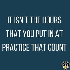It isn't the hours that you put in at practice that count, it's the quality of that hours that count. Swing Quotes, Golf Quotes, Golf Practice, Golf Humor, Count