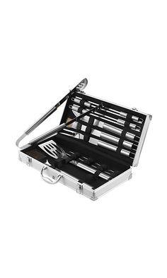 98940dd4d2c Amazon.com : VonHaus 18-Piece Stainless Steel BBQ Accessories Tool Set -  Includes Aluminum Storage Case for Barbecue Grill Utensils : Patio, Lawn &  Garden