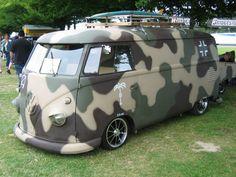 Camo VW Bus  love this