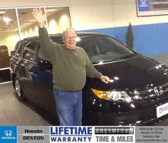 Thank you to Max Morley on your new 2014 #Honda #Odyssey from Sarah Blackmon and everyone at Honda of Denton! #NewCarSmell