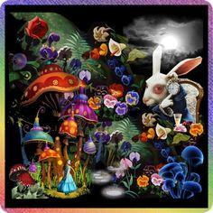 """Majik Mushroom Forest"" by hollyjo on Polyvore"
