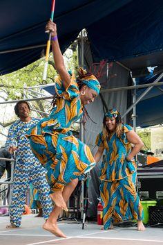 N'Kafu African Dance Group - Congo Square Fest 2013 costumes by Diop Traditionals