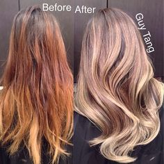Make-over balayage ombre #beforeafter