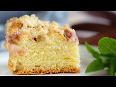 Puszyste ciasto drożdżowe z rabarbarem - YouTube Krispie Treats, Rice Krispies, Cornbread, Vanilla Cake, Ethnic Recipes, Food, Youtube, Millet Bread, Essen