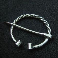Silver fibula. Viking brooch.. $73.00, via Etsy.