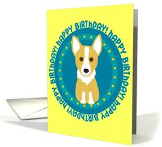 Happy Birthday - Corgi card (222567) by totallypainted