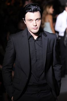 The actor Michael Pitt at Calvin Klein Men's Collection Spring-Summer 2014 in Milan