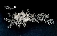Crystal Bridal Hair Vine Bridal Head Piece Crystal от TishynaShop