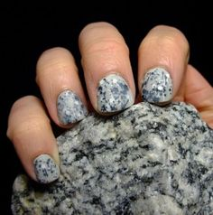 Granite Nails This May Be One Of Our Favorite Tutorials Using A Matte Top Coat