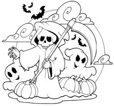 Halloween Coloring Page Coloring Pages Pinterest Ausmalbilder