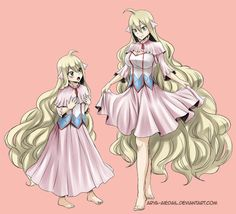 Mavis now and Mavis grown-up form... Too bad that her curse stopped her growing...