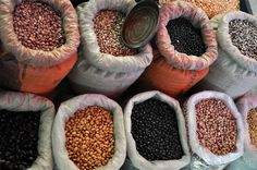 frijoles - food market in Tepoztlan