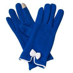 Bow Gloves-Royal/White - Occasionally Made - Classic Gifts with a Trendy Twist!
