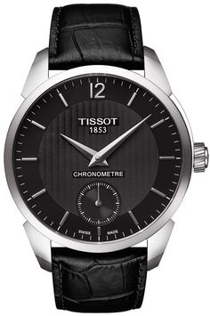 Tissot Watch T-Complication Chronometer #bezel-fixed #bracelet-strap-leather #brand-tissot #case-material-steel #cosc-yes #delivery-timescale-call-us #dial-colour-black #gender-mens #luxury #official-stockist-for-tissot-watches #packaging-tissot-watch-packaging #style-dress #subcat-t-complication #supplier-model-no-t070-406-16-057-00 #warranty-tissot-official-2-year-guarantee #water-resistant-30m