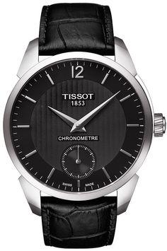 Tissot Watch T-Complication Chronometer #bezel-fixed #bracelet-strap-leather…