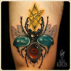 Rhino beetle by Kid Kros