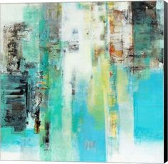Serie Caminos #22 Abstract Canvas Wall Art Print by Ines Benedicto