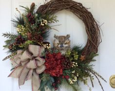 Fall Wreath-Winter Wreath-Fall Decor-Hydrangea by ReginasGarden
