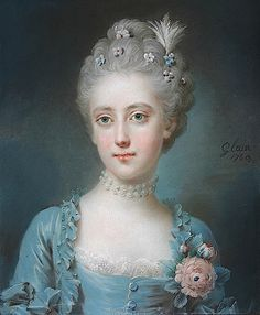 Once upon a time there was a look . of Viscountess Grimston, née Harriot Walter by Leon Pascal Glain (location unknown to gogm) L'art Du Portrait, Female Portrait, Old Paintings, Beautiful Paintings, Jean Antoine Watteau, Rococo Fashion, 18th Century Costume, Old Portraits, 18th Century Fashion