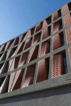 Kahrizak residential building by CAAT Studio #architecture #perforated #brick