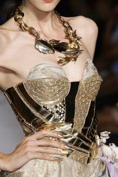 Studded bodice on dress - lots of gold x
