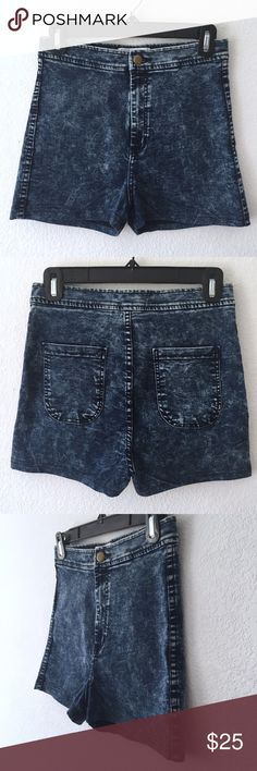 American Apparel High-Waisted Acid Wash Denim American Apparel High-Waisted, Acid Wash Denim Shorts  - Very stretchy material - High-waisted - Snug fit - Zipper in working condition - Excellent condition, like new! - No damages  High-waisted denim shorts are a MUST for summer! These shorts are incredibly comfortable and stretchy! American Apparel Shorts Jean Shorts