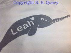 Narwhal Flock Heat Transfer  Iron on Decal by RBQuery on Etsy, $4.00