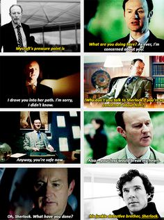 Mycroft's pressure point is the brother he adores. I loved the glimpses into the Holmes boys' relationship in series And meeting the theoretical third brother in series 4 could be fascinating. Who should play him? Sherlock Holmes Benedict, Sherlock Holmes Bbc, Sherlock Fandom, Sherlock Quotes, Sherlock John, Benedict Cumberbatch, Funny Sherlock, Mark Gatiss, 221b Baker Street