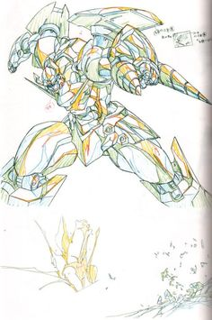 Storyboard, Lagann Gurren, Gundam, Gurren Laggan, Perspective Drawing Lessons, Character Art, Character Design, Different Art Styles, Robot Concept Art