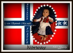 My niece in her Bunad...Norwegian dress for a baby