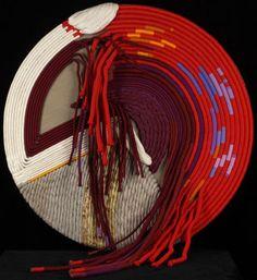 Labyrinth of Communication, Sheila Hicks ^ Minneapolis Institute of Art Weaving Textiles, Weaving Art, Tapestry Weaving, Textile Fiber Art, Textile Artists, Fibre Art, Sheila Hicks, Weaving Designs, Mid Century Art
