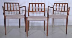 Moller #83 and #66 rosewood dining chairs - Denmark 1970s