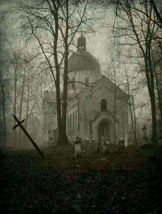 Abandoned church & cemetery. Oleszyce
