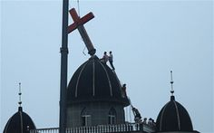 Chinese Christians Tearfully Sing Hymn as Church Cross Removed- Persecution from evil doers!