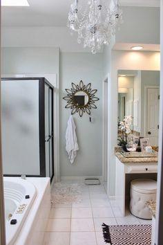 """TiffanyD: A """"Spa"""" Bathroom Re-do (Benjamin Moore Healing Aloe)"""