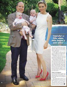 Princess Charlene and Prince Albert in Hello magazine