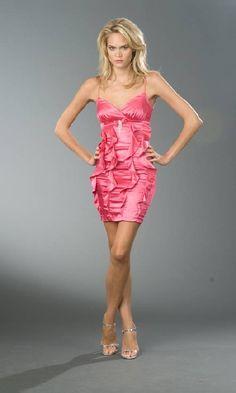 red short prom dress