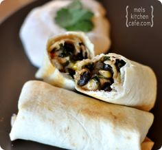 Baked Southwest Egg Rolls with Chipotle Dipping Sauce - Make with homemade tortillas