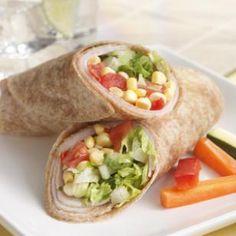 Turkey, Corn & Sun-Dried Tomato Wraps for Two