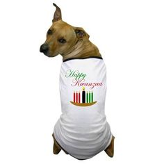 PetsLady's Pick: Cute Kwanzaa Dog Shirt Of The Day...see more at PetsLady.com -The FUN site for Animal Lovers